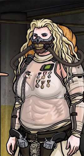 Pam Poovey as Immortan Joe. It's a thing, and I was feeling it.